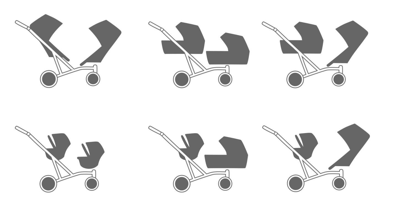 Zwillingskinderwagen sitzrichtung verstellbar