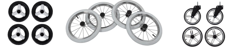 Lux4Kids Reifenarten Schwenkreifen Hartgummi Gelreifen