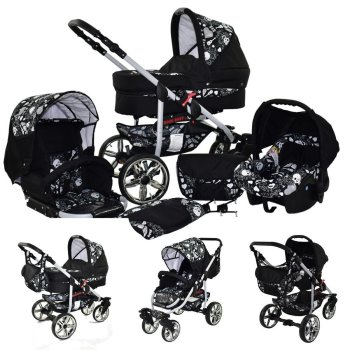 Matrix Rock Baby 3 in 1 combi pram pushchair stroller...