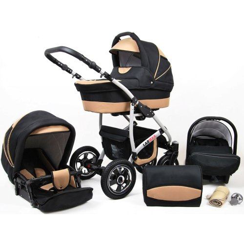 Larmax 3 in 1 combi pram pushchair stroller complete set with car seat