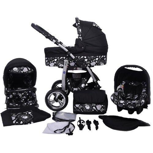 Dino Rock Baby 3 in 1 combi pram pushchair stroller complete set with car seat