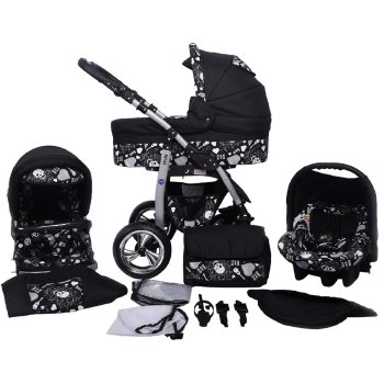 Dino Rock Baby 3 in 1 combi pram pushchair stroller...