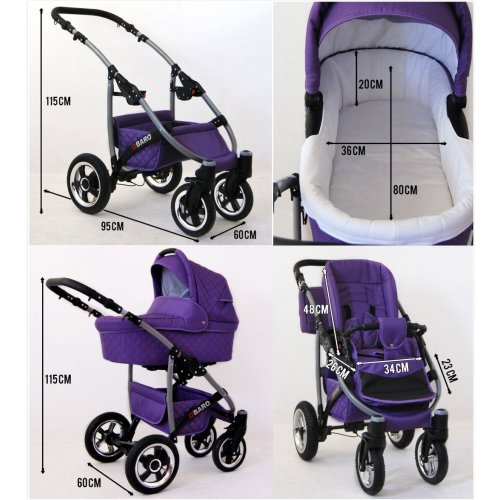 Q-Bus 3 in 1 combi pram pushchair stroller complete set with car seat