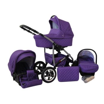 Q-Bus 3 in 1 combi pram pushchair stroller complete set...
