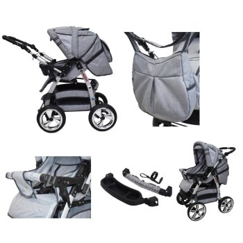 Lux4Kids 2 in 1 Kombi Kinderwagen Buggy Babywanne Set Magnum