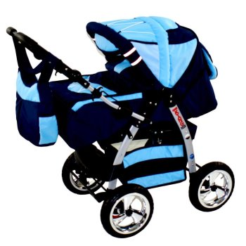 Lux4Kids 2 in 1 travel system stroller carrycot set...