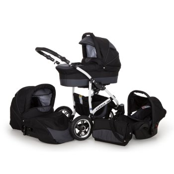 Lux4kids 3in1 Kinderwagen Buggy Autositz Alles in einem...