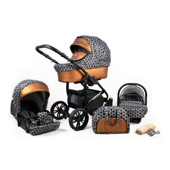 Lux4Kids Stroller 3in1 BlackOne Travelsystem 2in1 Buggy...