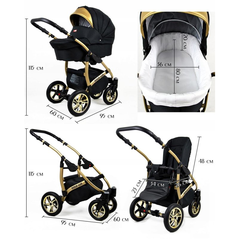 Lux4kids Golden Glow The Pram With The Golden Touch 392 67
