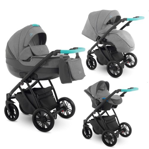 Lux4kids Stroller Pram 2in1 3in1 Isofix Car Seat 6 Colours Free Accessories Zoe