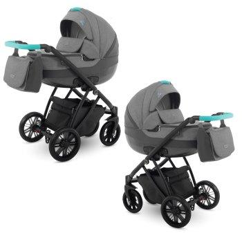 Lux4Kids Stroller Pram 2in1 3in1 Isofix Car seat 6...