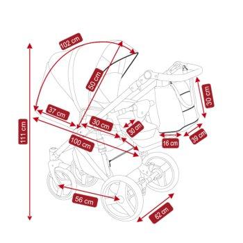Lux4Kids Stroller Pram 2in1 3in1 Isofix Car seat 12...