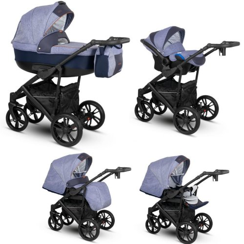 Lux4Kids Stroller Pram 2in1 3in1 Isofix Car seat 12 colours Free Accessories OVE