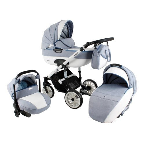 Lux4Kids Pram Stroller 3in1 2in1 Isofix Colour selection Buggy Car seat Owe