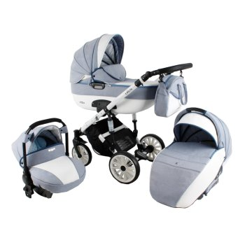 Lux4Kids Pram Stroller 3in1 2in1 Isofix Colour selection...