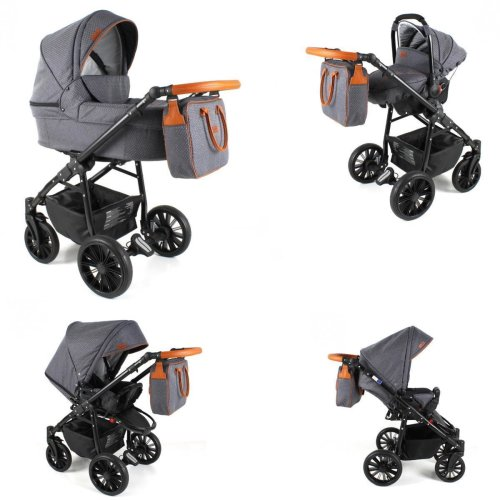Lux4Kids Pram Stroller 3in1 2in1 Isofix Colour selection Buggy Car seat For