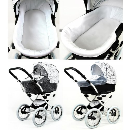 Marget 3 in 1 combi pram pushchair stroller complete set with car seat