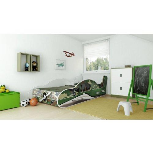 Angelbeds Kinderbett Flugzeug Motive Flex Lattenrost Matratze 160 X 80