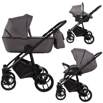 Travel System 3in1 Isofix Buggy Pram Carrycot Noche NEW...
