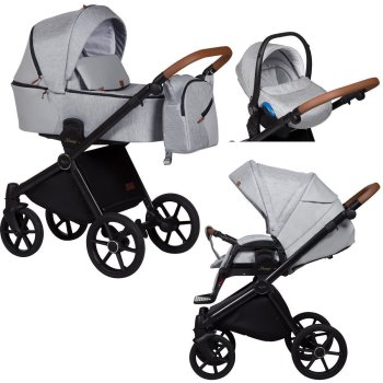 Travel System 3in1 Isofix Buggy Pram Carrycot Mango by...