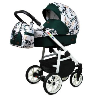 Kinderwagen Colorlux White by Chillykids Lilac 2in1 ohne...