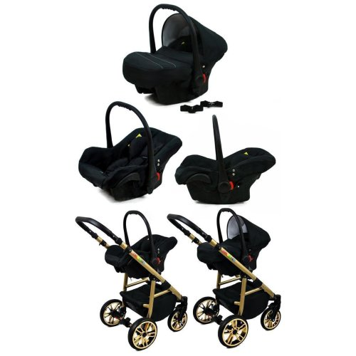 Colorlux Gold 3 in 1 combi pram pushchair stroller complete set with car seat
