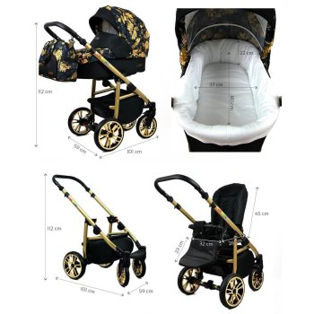 Kinderwagen Colorlux Gold by Chillykids