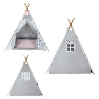 Childrens Play Tent Tipi Tepee Play Tent Tent Megaset 4...