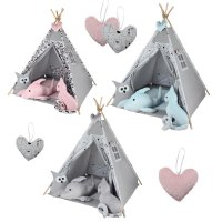 Childrens play tent Tipi Tepee play tent tent Megaset 4 models girls boy by ChillyKids