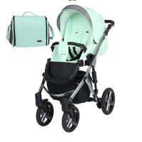 Stroller 3in1 2in1 Isofix pram set + accessories Color selection Mila Premium Silver by ChillyKids