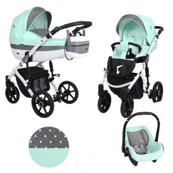 Lavado White Isofix Buggy 3in1 2in1 all in one by Lux4kids
