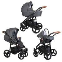 Kinderwagen Rotax Black by ChillyKids