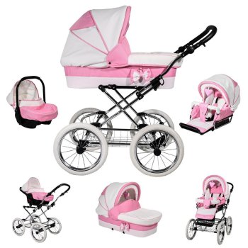 Stroller Retro Nostalgic 3in1 Isofix 2in1 Color Selection...