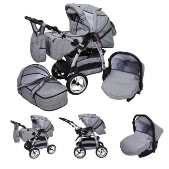 3-in-1 stroller with parasol Combi stroller Buggy...