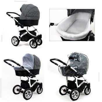 Stroller 3in1 2in1 Isofix Buggy Set Queen by Lux4Kids
