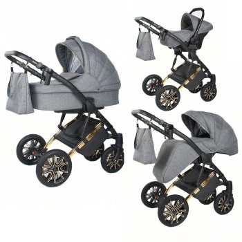 Stroller 3in1 2in1 Isofix Set Buggy Sharon by Lux4Kids