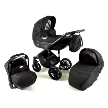 Ottis Black 2020 pram by Lux4Kids