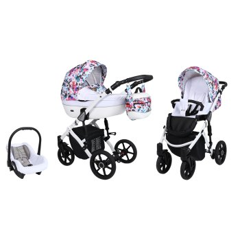 Lavado White pram by Lux4kids Flori 05 2in1 without baby...