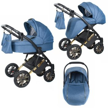 Sharon pram by Lux4Kids Blue 03 2in1 without baby seat