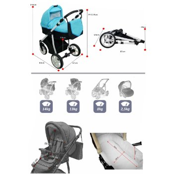 Lux4Kids Kinderwagen Victoria