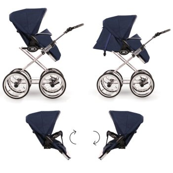 Poussette Retro 3in1 2in1 4in1 Isofix Buggy 3 Colours...