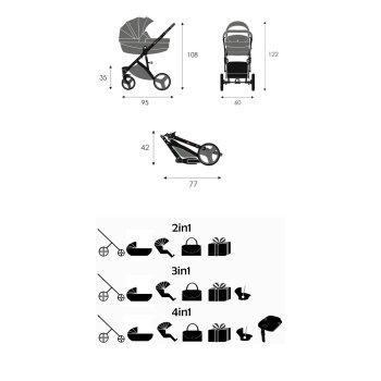Kinderwagen One-Klick System Galaxy